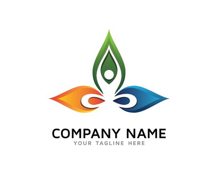 Nature Yoga, Body And Soul, Wellness Logo