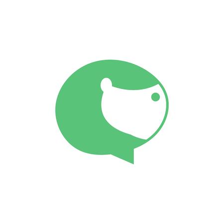 Dog Forum Pet Icon Logo Design Element Illustration