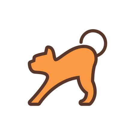 Cat Icon Logo Design Element
