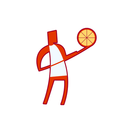 Pizza Cooking Icon Logo Design Element Illustration