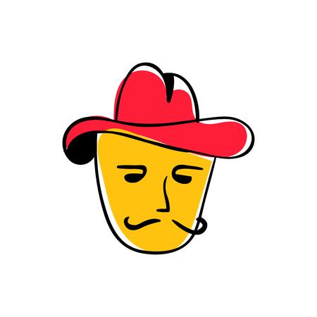 mister: Mister Pizza Icon Logo Design Element Illustration