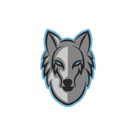foxy: Wolf Head Mascot Icon Logo Design Element