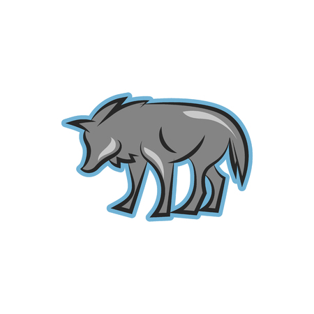 foxy: Wolf Cartoon Icon Logo Design Element Illustration