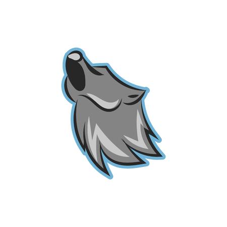 foxy: Wolf Head Icon Logo Design Element Illustration