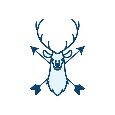 Deer Head Hunt Icon Logo Design Element Royalty Free Cliparts