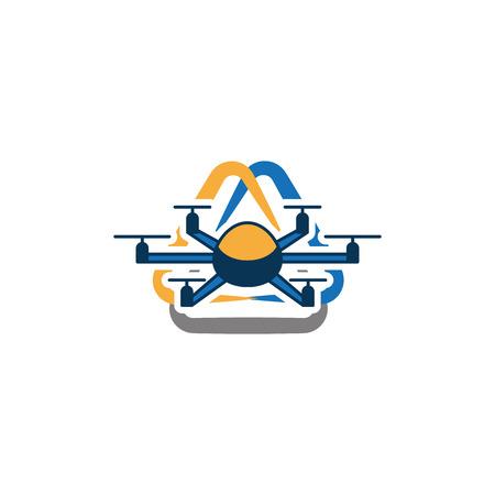 Drone Multicopter Icon Logo Design Element