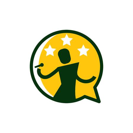 Karaoke Talk Icon Logo Design Element