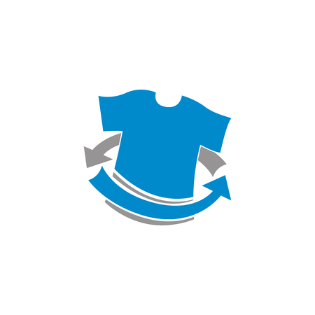 Laundry Service Icon Logo Design Element Vettoriali