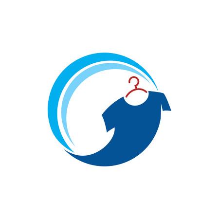 Conception blanchisserie Icône Logo Element