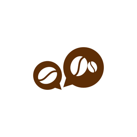 Coffee Chat Icon Logo Design Element