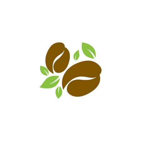 Nature Coffee Bean Icon Logo Design Element