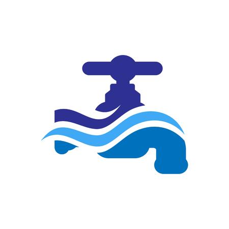 Water Faucet Icon Logo Design Element Ilustrace