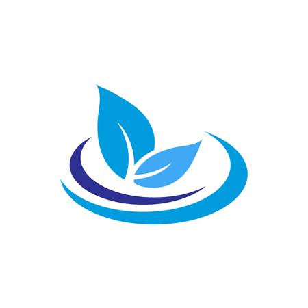 Nature Fresh Water Icon Logo Design Element