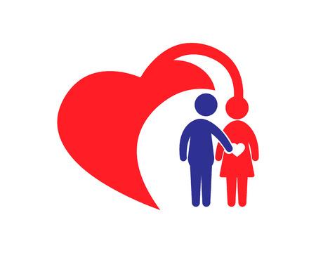 family: Family Care Icon Logo Design Element