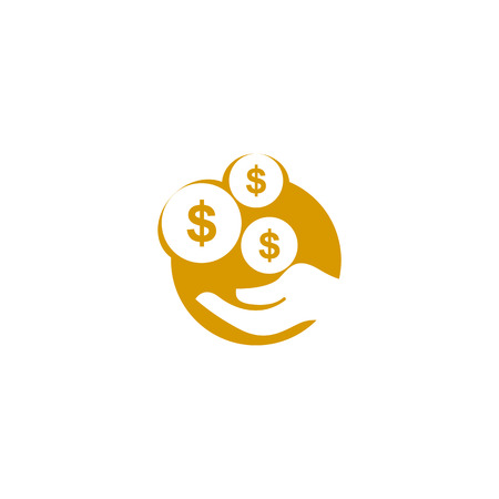 Save Money Icon Logo Design Element Иллюстрация