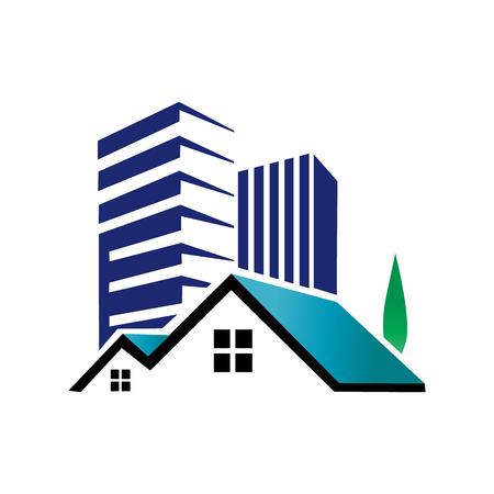 Appartement huis onroerend goed pictogram Logo ontwerpelement