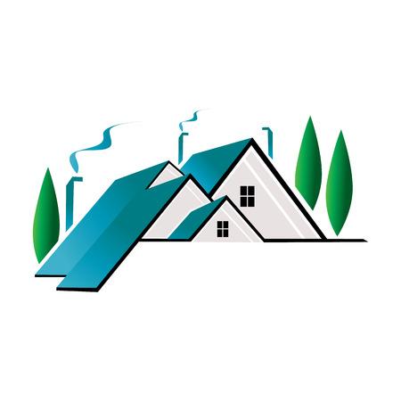 Dak onroerend goed pictogram Logo ontwerpelement