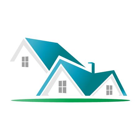 Real Estate House Icon Logo Design Element