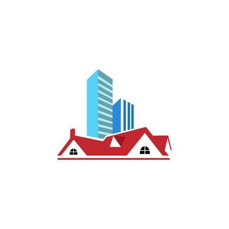 Hotel Real Estate Icon Logo Design Element Illustration