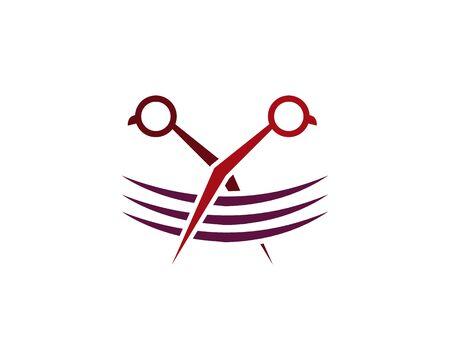 Hair Style Icon Logo Design Element