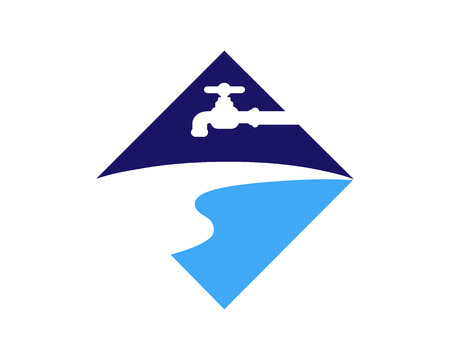 Fresh Water River Icon Logo Design Element