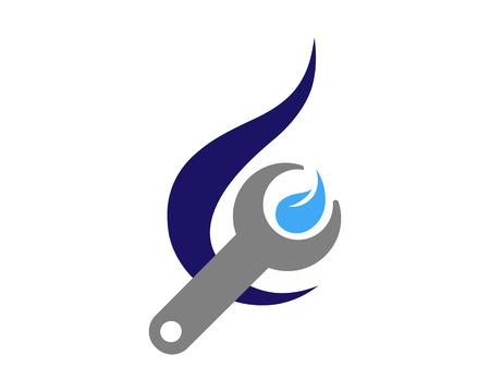 Water Repair Icon Logo Design Element