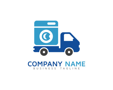 Laundry Delivery Logo Design Template