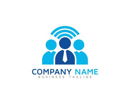 Team Leader Group Logo Design Template