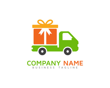 Gift Delivery Logo Design Template
