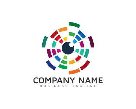 Color Vision Tech Logo Design Template