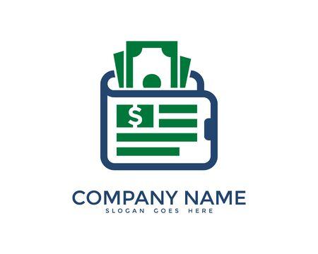 sales manager: Pocket Money Logo Design Template