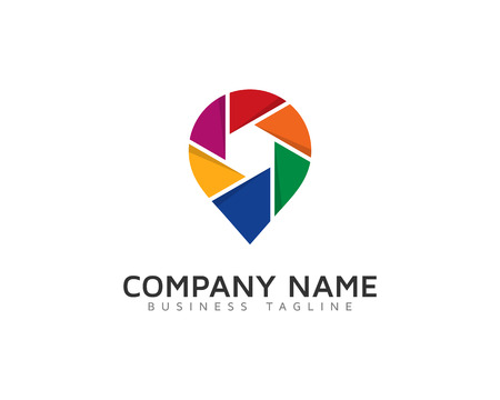 Photo Pin Logo Design Template