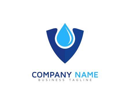 water: Water Safe Shield Logo Design Template