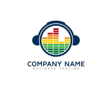 Audio Beat Logo Design Template Logo