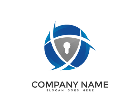 Network Data Security Logo Design Template