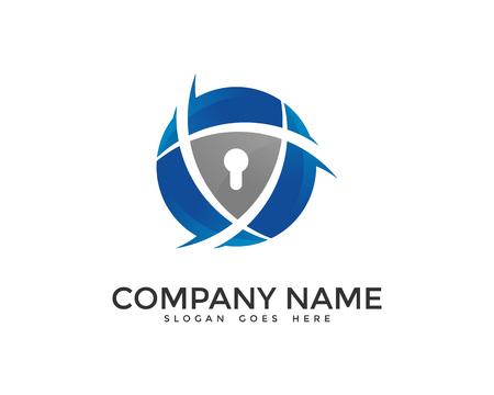 Network Data Security Logo Design Template