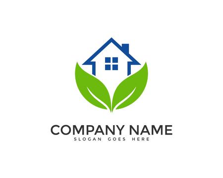 Casa verde plantilla de diseño del logotipo