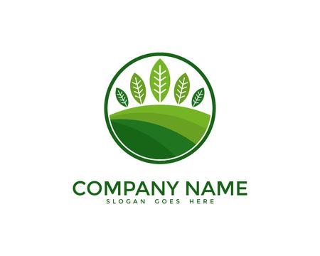 Nature Landscaping Design Template Illustration