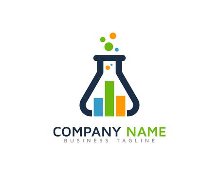 Lab Stats Logo Design Template Illustration