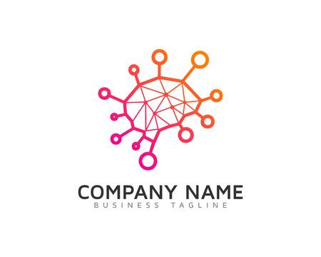 Plantilla de diseño de logotipo de Creative Brain Share