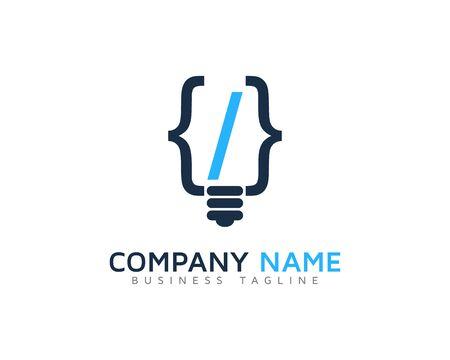 software design: Code Idea Logo Design Template