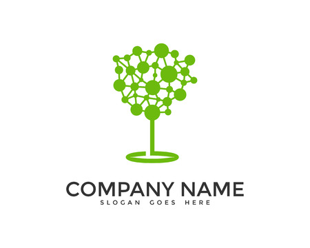 techno: Digital Tree Logo Design