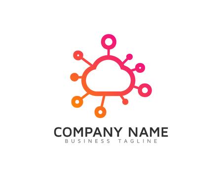 Cloud Share 로고 디자인 템플릿