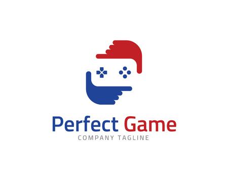 joy pad: Perfect Game Frame Logo Design Template