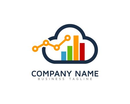 Cloud Stats Logo Design Template
