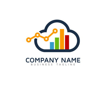 Cloud Stats Logo Design Template