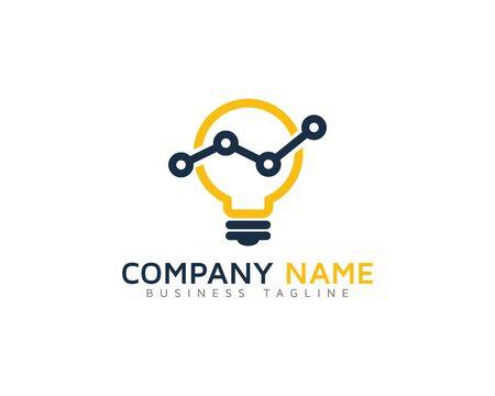 metrics: Marketing Idea Stats Logo Design Template