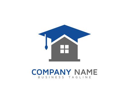 profesional: Home Schooling Education Logo Design Template Illustration