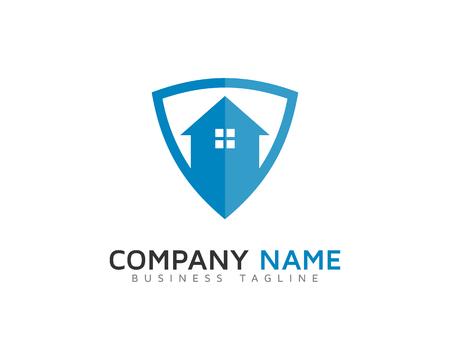 Home Shield Logo Icon Design Stock Vector - 100681532