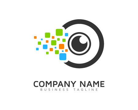 Digital Vision Eye Logo Design Template